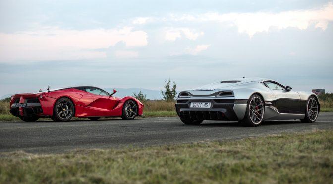 Archie Hamilton Races a Tesla P90D vs. a Rimac Concept One vs. a Ferrari LaFerrari